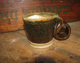 Small Coffee or Tea Cup -  Stoneware Pottery - 5 oz. - Esspresso size - Kid sized mug