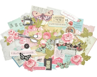 Kaisercraft Miss Betty Collectables Die Cut Shapes - Ephemera - Sewing - Roses - CT931