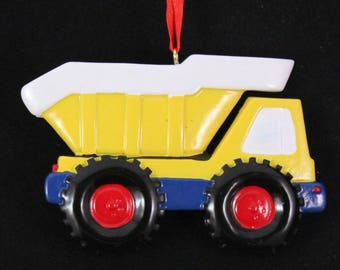 Dump Truck Personalized Christmas Ornament, Dump Truck,Ornament,Personalized,Dump Truck Ornament, Construction