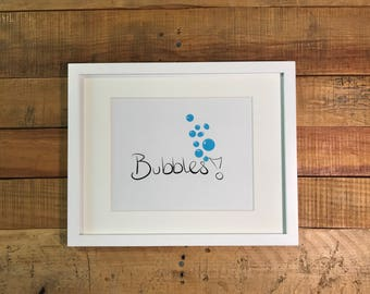 Bubbles! Art Print