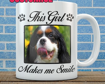 Customized Dog Photo Mug - Add your photo, customize wording. (15oz)