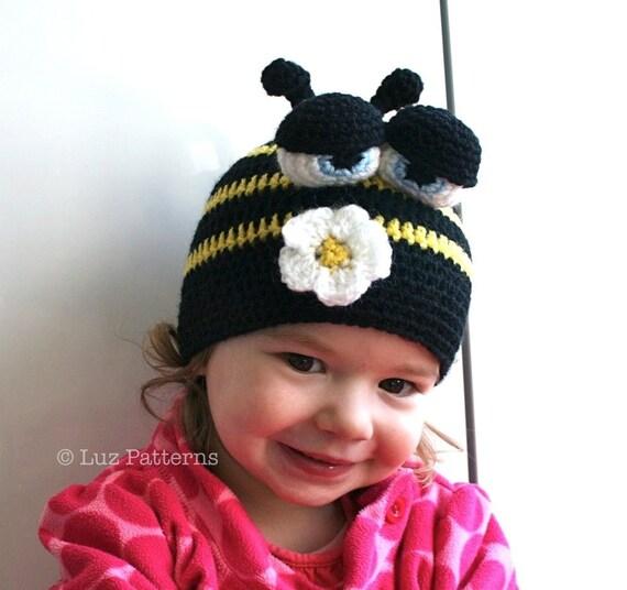 Crochet Hat Pattern Crochet Baby Busy Bee Hat Pattern Crochet