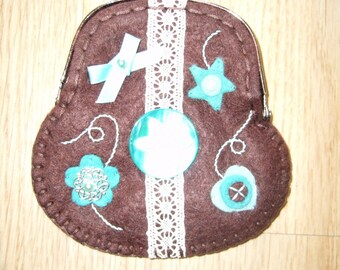 Small wool felt purse