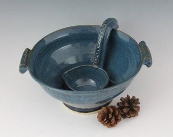 Blue Gravy Boat - Sauce bowl - handmade pottery
