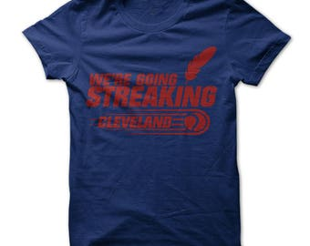 Cleveland skull t shirt design navy shirt with red print for Cleveland t shirt printing