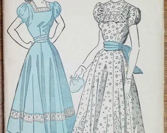 "Vintage Advance 4951 Dress Pattern Size 11 or 29"" Bust"