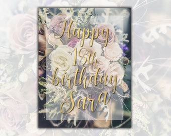 Happy birthday card Happy 18th Birthday printable 18th birthday card Personalized birthday card Personalized printable Gold card printable