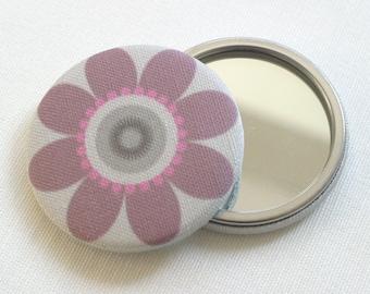 Purple Pocket Mirror Floral Scandi Daisy fabric