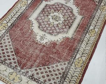 4'x7' Oushak Rug, Turkish Rug, Vintage Rug, Area Rug Kitchen Rug,Vintage Turkish Rug, Turkish Oushak Rug, Home Decor, Kitchen Rug, Runner. !