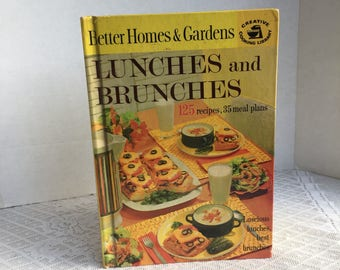 Vintage Hardcover Cookbook Lunches and Brunches by Better Homes and Gardens 1963