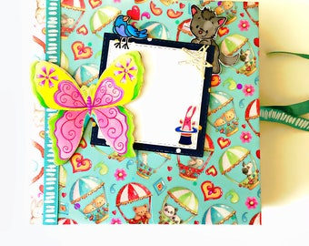Baby photo album - handmade mini book - cute keepsake gift for child's photos - little one's photo album - designer mini photo book