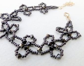 Seed Bead Flower Bracelet