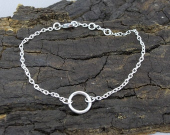 Bracelet Karma Ring Silver PLATED