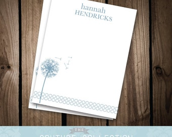DANDELION Note Card - Whimsical & Simple, Printable DIY Digital File - Personal Stationery