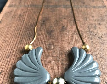 Vintage Wings Pendant Necklace