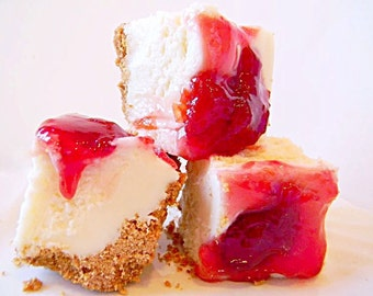 Julie's Fudge - Cherry CHEESECAKE With Graham Cracker Crust - Over One Pound