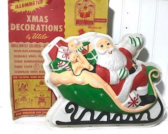 Vintage Santa Stand Up Lamp in Original Box