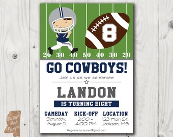 Dallas cowboys birthday ticket party invitations custom dallas cowboys birthday invitation 2 filmwisefo Gallery