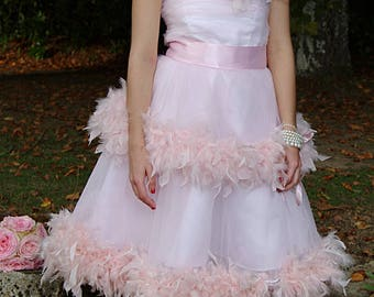 Collection - 2018 feathery pink dress