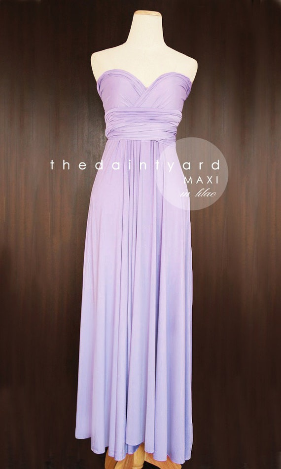 Maxi lilac bridesmaid dress convertible dress infinity dress for Purple maxi dresses for weddings