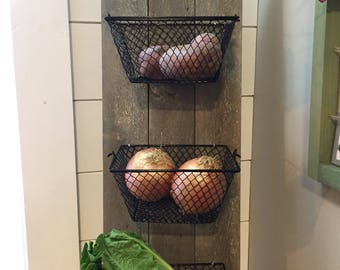 Wall mount/Hanging produce baskets