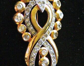 Big rhinestone brooch