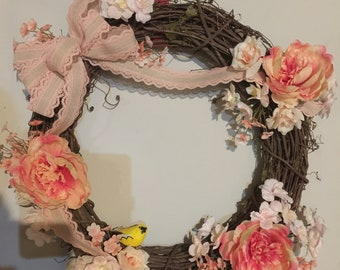 Peach dream wreath