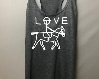 Equestrian tank top. Horse riding tank top. Love horses. Riding top. Horse tank top. Horse shirt.Horseback riding. Horse gift. Horse lover.