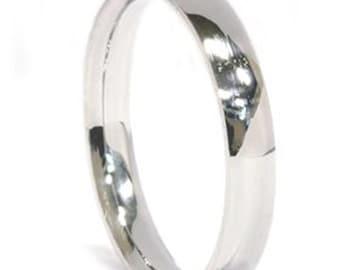 Palladium Wedding Band 3mm (sizes 4-11)