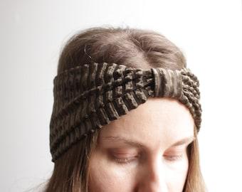 Womens headband / yoga headband / adult headband / headbands for women / wide headband / velvet fabric headband / boho turban headband