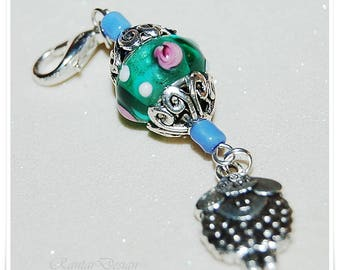 Progress Keeper Zipper Charm Keychain Charm Progress marker Stitch marker