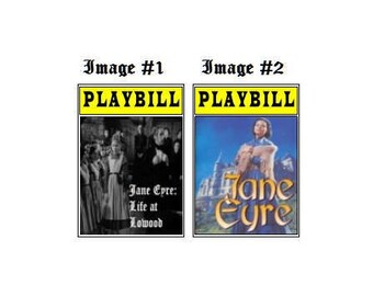 Theater / Show Charm - Playbill Play Bill - Jane Eyre - Life at Lowood