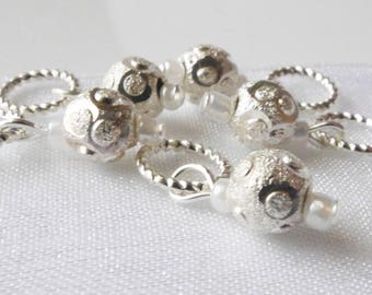 Walking in a Winter Wonderland - Five Handmade Stitch Markers - 5.0mm (8 US) - Limited Edition