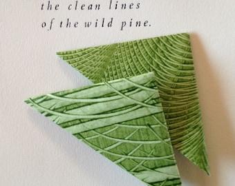 Origami Page Corner Bookmarks-Fern Green