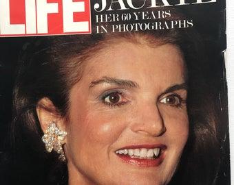 Life Magazine Vintage Advertising Jackie O 60 Year Birthday July 1989