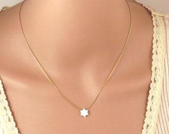 Jewish star necklace Etsy