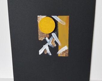 Peinture technique mixte / Texture / Collage / décoration / «Phase 2»