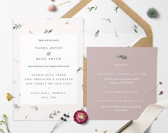 Floral Blush Wedding Invitation