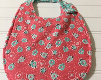 Girls flower bib