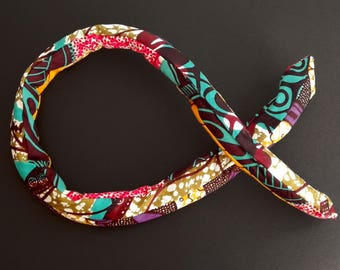 Headband-padded memory - adjustable and reversible patchwork wax #10