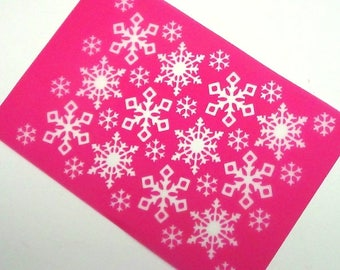 Beadcomber Silk Screen - Snowflake D2 Silkscreen Design for polymer clay, paper, fabric and more and DIY