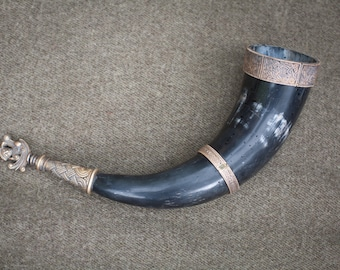 Custom Viking Drinking Horn