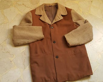 40s 50s two tone wool jacket size S