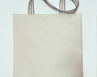 Embroidery Natural Eco bag, shopper, shopping, tote bag