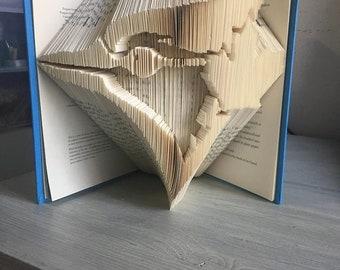 Book folding pattern of the Toronto Blue Jays logo