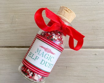 Magic Dust, Elf Dust, Christmas Party Favor, Christmas Elf- Christmas Party Favor- Test Tube Christmas Treats- Christmas Gift, Elf