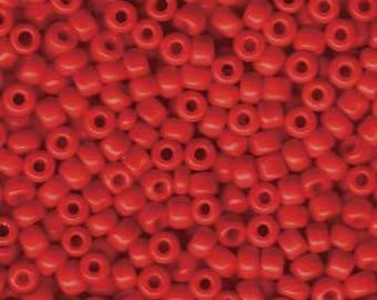 Opaque Red Miyuki Seed Bead 6/0 20G Tube 6-9408-TB