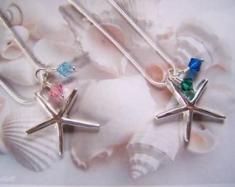 Bridesmaid Jewelry Starfish Necklace Beach Bride Destination Wedding