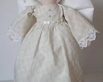 """RC606E – """"NOEL""""  Angel Cloth Doll Sewing Pattern – PDF Download Doll Making Pattern"""