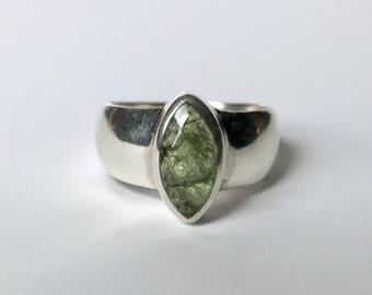 Moldavite Ring US 7 1/2